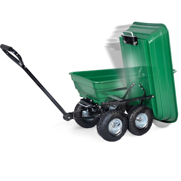 650 Lbs Garden Dump Cart Dumper Wagon Carrier