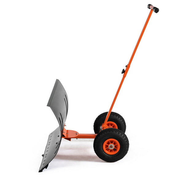 Adjustable Wheeled Snow Pusher-Shovel Heavy