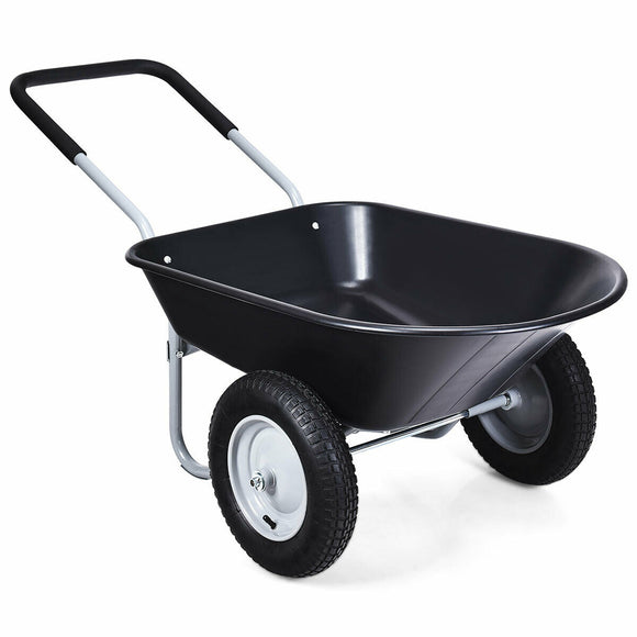 2 Tire Wheelbarrow Garden Cart Heavy-duty Dolly Utility Cart