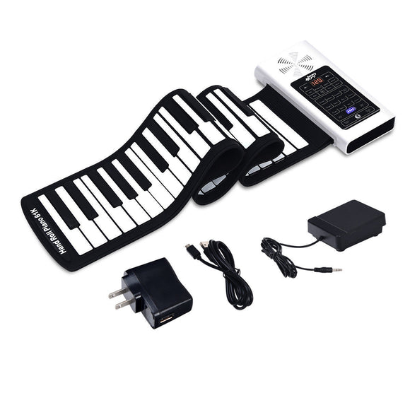 61 Key Electronic Roll up Silicone Rechargeable Piano Keyboard