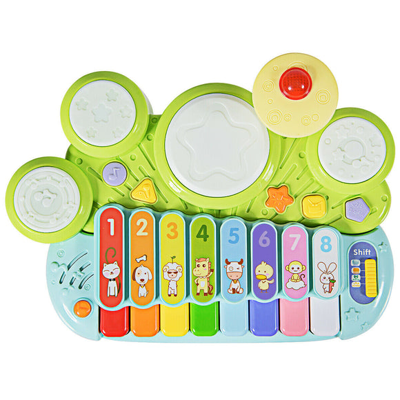 3 in 1 Electronic Piano Xylophone Game Drum Set Musical Toys