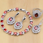 925 STERLING SILVER RUBY ELEGANT BIRTHSTONE 5 PCS SET