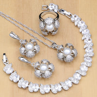 925 STERLING SILVER PEARL IMPECCABLE BIRTHSTONE 5 PCS SET