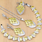 925 STERLING SILVER YELLOW TOPAZ STRIKING BIRTHSTONE 5 PCS SET