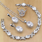 NATURAL 925 STERLING SILVER DIAMOND TEMPTING BIRTHSTONE 5 PCS SET