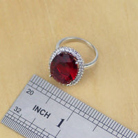 925 SILVER GARNET SPLENDID BIRTHSTONE 5 PCS SET