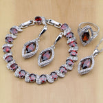 925 STERLING SILVER RUBY SUPERIOR BIRTHSTONE 5 PCS SET