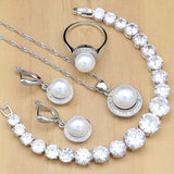 925 STERLING SILVER PEARL LOVELY BIRTHSTONE 5 PCS SET