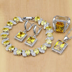 925 STERLING SILVER YELLOW TOPAZ OUTSTANDING BIRTHSTONE 5 PCS SET