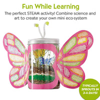 Creativity for Kids Grow 'n Glow Terrarium/Sparkle N' Grow Butterfly  - Science Kit for Kids