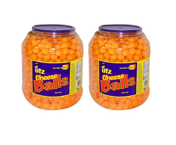 2 Pack Utz Cheese Ball Barrels - 35 oz. Each