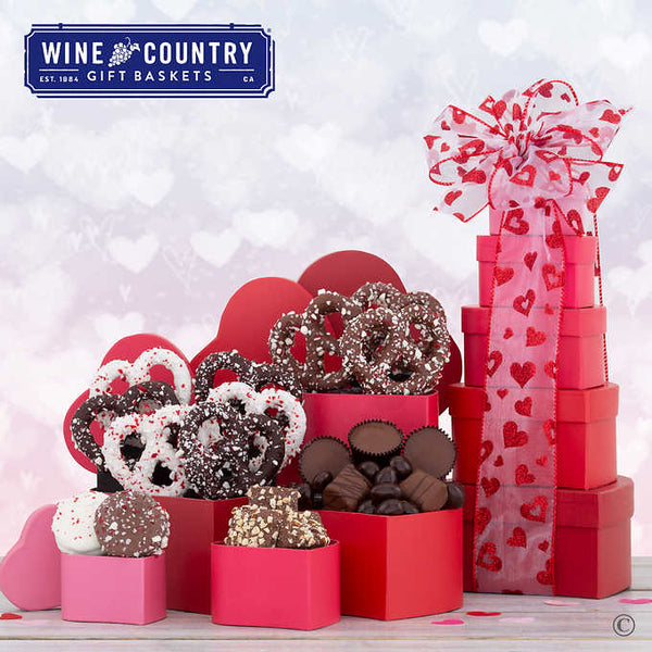 Rocky Mountain Chocolate Factory 5-box Valentine's Day Tower