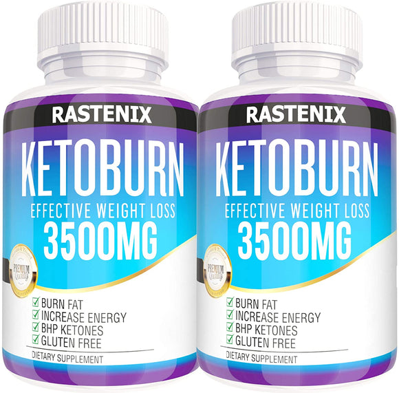 Rastenix Best Keto Pills - 3X Potent (3000mg | 120 Capsules) - Weight Loss Keto Burn Diet Pills