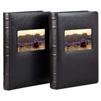Old Town Bonded Leather Book Bound Photo Albums, 2-pack