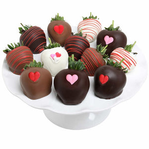 Love Hearts Belgian Chocolate Covered Strawberries