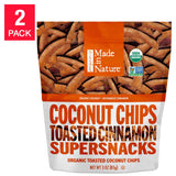 Made in Nature Toasted Coconut Chips 3 oz, 6-pack