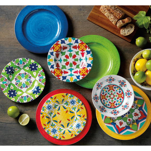 Turkish Tile Melamine 12-piece Dinnerware Set