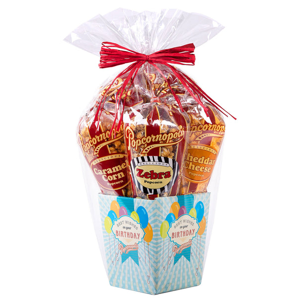 Popcornopolis Popcorn Birthday Basket, 5-count