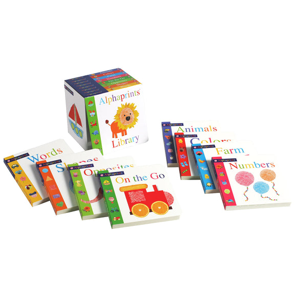 Alphaprints Library: 8 Board Book Box Set