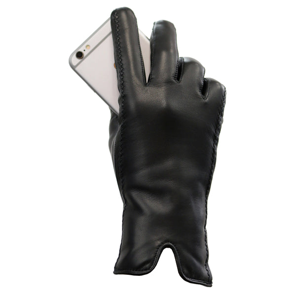 Fownes Brothers Ladies' Leather Gloves, Black