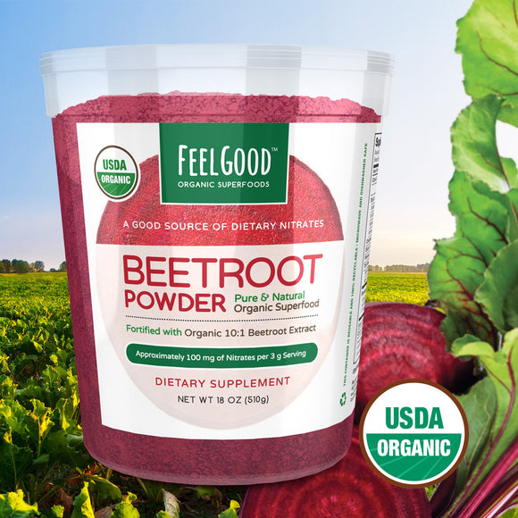 Feel Good USDA Organic Beetroot Powder, 18 Ounces