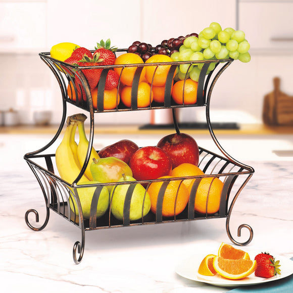 Mesa 2-tier Wrought Iron Basket