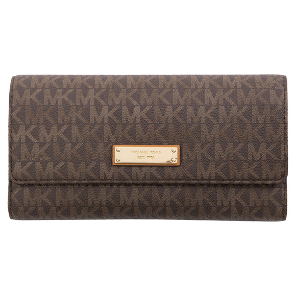 Michael Kors Checkbook Wallet, Brown