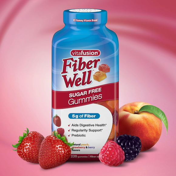 vitafusion Fiber Well Sugar Free, 220 Gummies