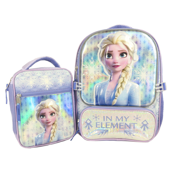 Frozen 2 Licenced Backpack with Lunch Bag