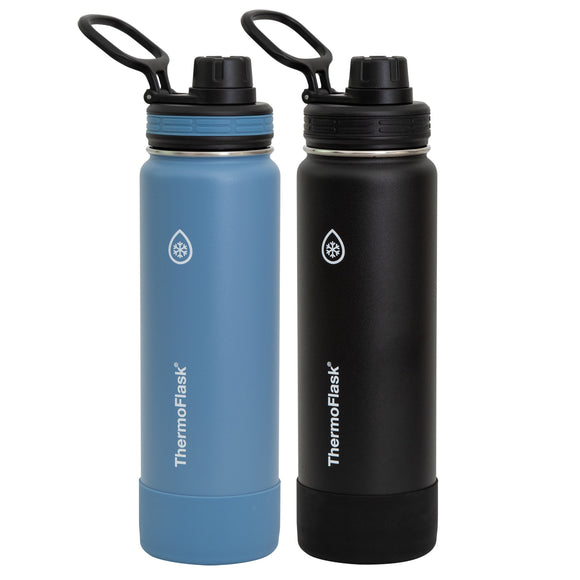 Thermoflask 24oz Stainless Steel Water Bottle Set, 2-pack