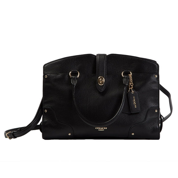Coach Mercer 30 Satchel, Black