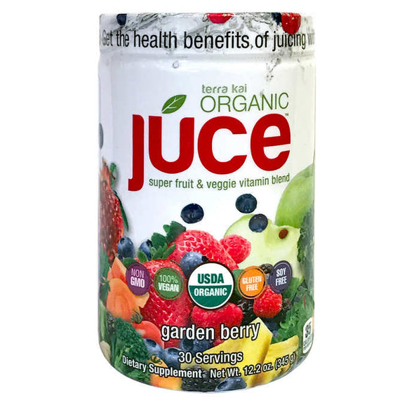 Terra Kai Organics Juce Super Fruit & Veggie Vitamin Blend, 12.2 Ounces