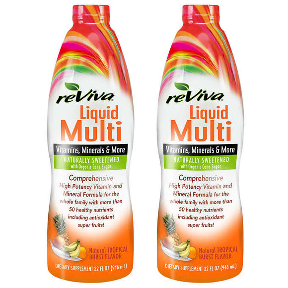 reViva Liquid Multivitamin, 64 Ounces, Tropical Burst