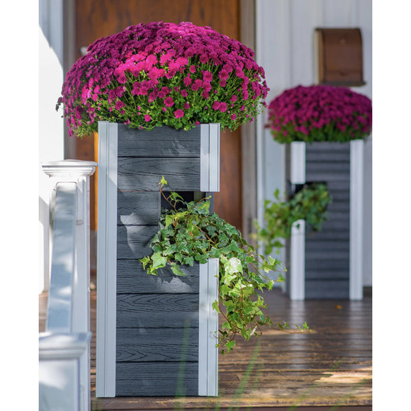 Urbana Pillar Planter, 2-pack