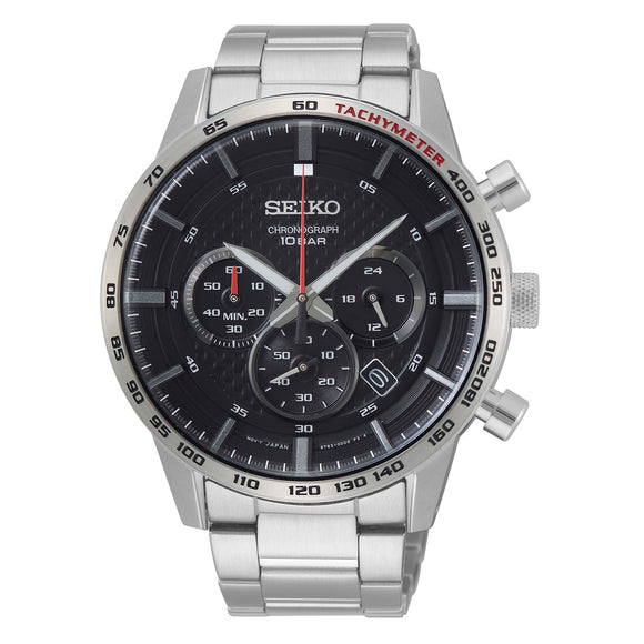 Seiko Chronograph Stainless Steel Men's Watch
