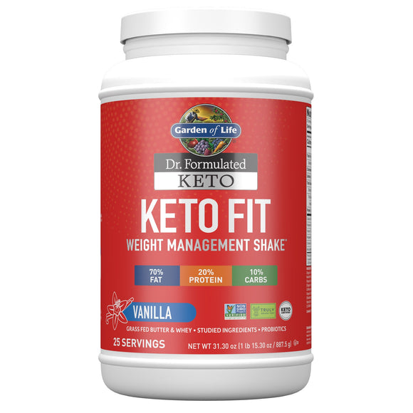 Garden Of Life Keto Fit Diet Shake Vanilla, 31.3 oz