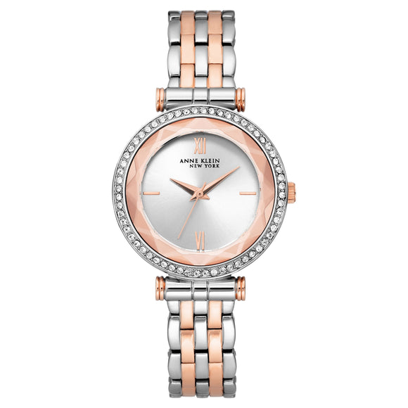 Anne Klein New York Two-Tone Swarovski Crystal Ladies Watch