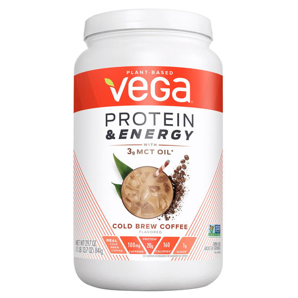 Vega Protein & Energy Cold Brew Coffee, 1.9 lbs