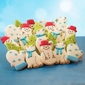 Hand Decorated Holiday Cookies 24-count
