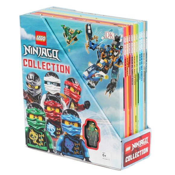 LEGO NINJAGO Collection: 10 Book Box Set with Minifigure