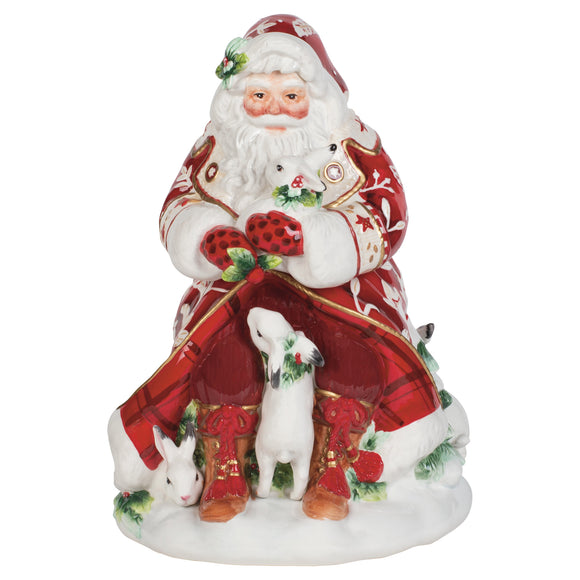 Fitz and Floyd Town & Country Santa Cookie Jar