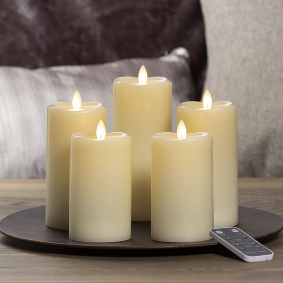 Sterno Home LED Moving Flame Candle, 5-piece set