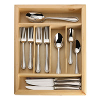 Mikasa Sinclair 65-piece Stainless Steel Flatware Set with Wood Caddy