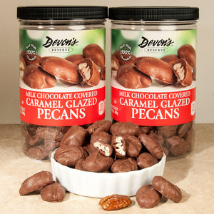 Devon's Reserve Milk Chocolate Covered Caramel Glazed Pecans 30 oz, 2-count