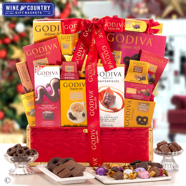 Godiva Red & Gold Holiday Gift Trunk