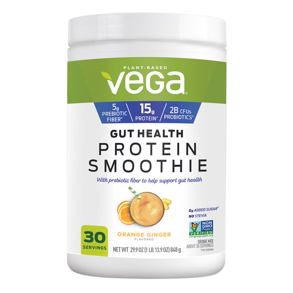 Vega Gut Health Protein Smoothie Powder, Orange Ginger