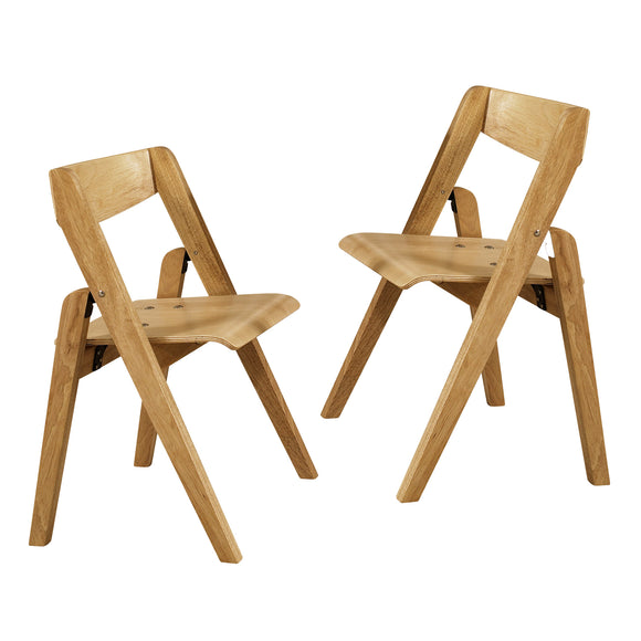 Stakmore Juvenile Wood Folding Chairs, 2-pack