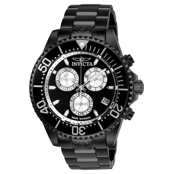 Invicta Pro Diver Black Stainless Steel Men's Watch
