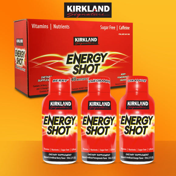 Kirkland Signature Energy Shot, 48 Bottles, 2 Ounces Each