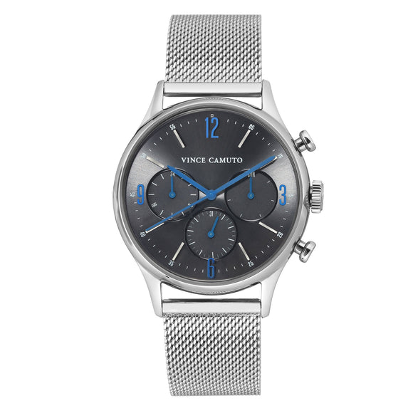 Vince Camuto Silver Tone Stainless Steel Mesh Men's Watch